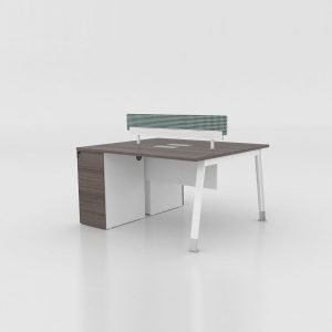 Kano Two-seater Workstation with Lock FQ56
